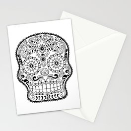 Black and White Sugar Skull Stationery Cards