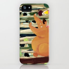 Meeting with Teddy Bear iPhone Case