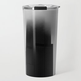 Sears Tower in Fog Chicago Black and White Photo Travel Mug