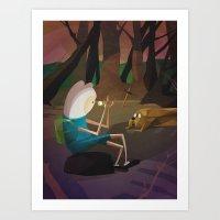 finn and jake Art Prints featuring Finn & Jake by modHero