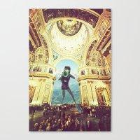 scuba Canvas Prints featuring scuba by Caroline A