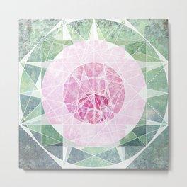 Watermelon Geometery Metal Print