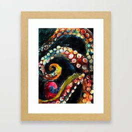 Tentaces in the Darkness Framed Art Print