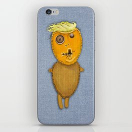 Orange Voodoo Doll iPhone Skin
