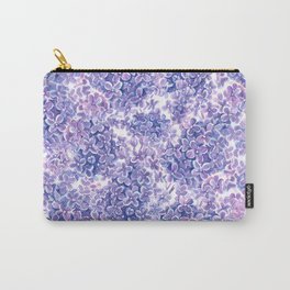 Violet watercolor lilac flowers  Carry-All Pouch