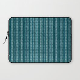 Small Stripes on dark turquoise Background Laptop Sleeve