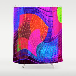 Re-Created Function f(x) No. 8 by Robert S. Lee Shower Curtain