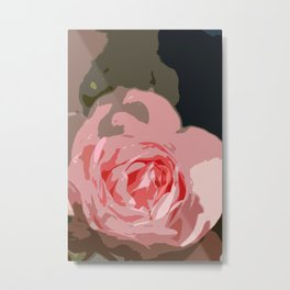 Rosy Rose Metal Print