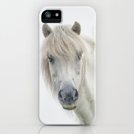 Horse eyes look at you iPhone Case