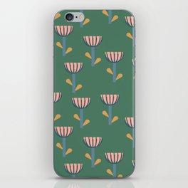Folksy Floral Pattern in Green iPhone Skin