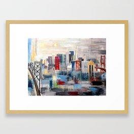 San Francisco in color Framed Art Print