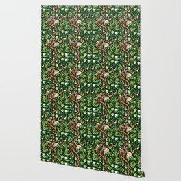 Swirly Trendy_Green Wallpaper