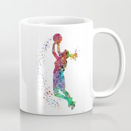 Basketball Girl Player Sports Art Print Coffee Mug