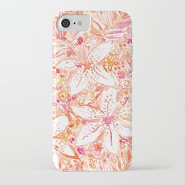 LILY SUNSET Peach Beachy Floral iPhone Case