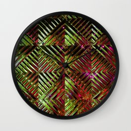 Disco Gold Wall Clock