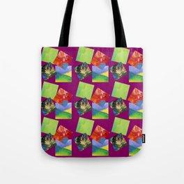 Painted Squares Jiggle - Plum Tote Bag
