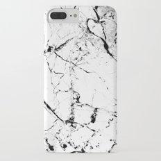 Marble Texture Print (Blanc) Slim Case iPhone 7 Plus