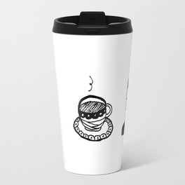 Tea and lady Travel Mug