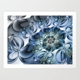 Dynamic Spiral, Abstract Fractal Art Art Print