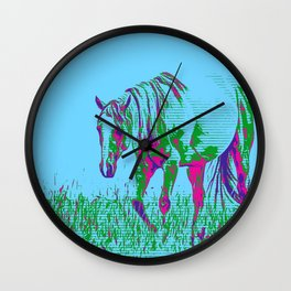 Pop Art Horse 1 Wall Clock