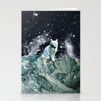 wizard Stationery Cards featuring WIZARD by Beth Hoeckel