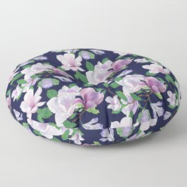 Magnolia Floral Frenzy Floor Pillow