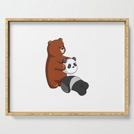 Hey Bear Grizzly Pulls Off Panda Bear Head Serving Tray