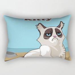 Grumpy kitty cat Rectangular Pillow