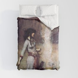 THE MAGIC CIRCLE - JOHN WILLIAM WATERHOUSE Comforters