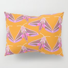 Elephant Hawk Moth - Orange Pillow Sham