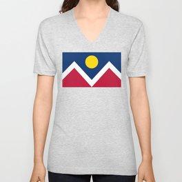 Denver City Flag Unisex V-Neck