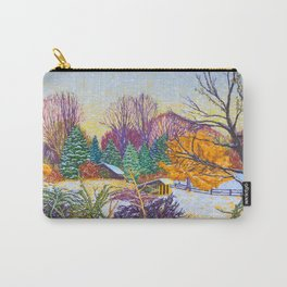 Horse Shed in Winter Carry-All Pouch
