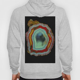 Coral and Turquoise Agate Hoody