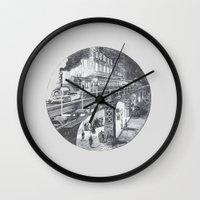 manhattan Wall Clocks featuring Manhattan by Margo Orlovik