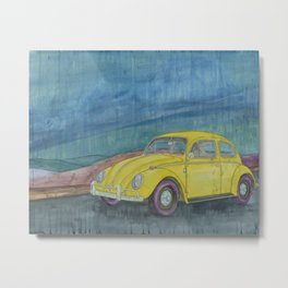 Yellow Beetle Metal Print
