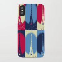 eiffel tower iPhone & iPod Cases featuring Eiffel Tower by Aloke Design