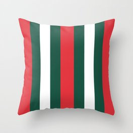 Italy Flag Stripes Green Red Stripped Print Throw Pillow