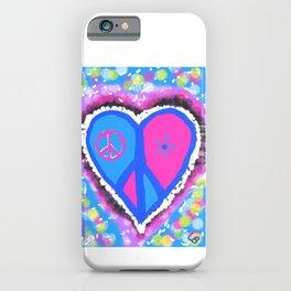 Peaceful heart iPhone Case
