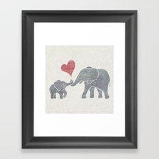 Elephant Hugs Framed Art Print