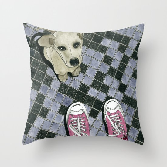 Let's play: Dog Throw Pillow