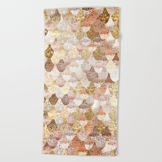 MERMAID GOLD Beach Towel