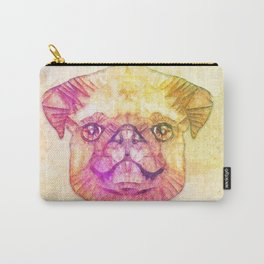 abstract pug puppy  Carry-All Pouch