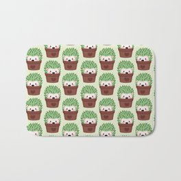 Hedgehogs disguised as cactuses Bath Mat