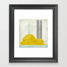 YELLOW RABBIT Framed Art Print