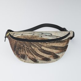 Mythology's Icarus Wing Rustic Modern Cottage Chic Country Art A549 Fanny Pack