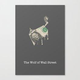 Wolf - minimalistic movie poster Canvas Print