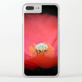 Red flower India Clear iPhone Case