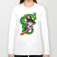 goku Long Sleeve T-shirts featuring Little Goku by feimyconcepts05