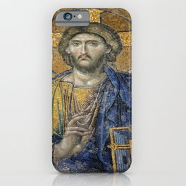 Christ Pantocrator Mosiac Upper Gallery Hagia Sophia iPhone Case