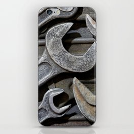 Group of old wrenches iPhone Skin